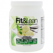 Fit & Lean, Fat Burning Meal Replacement, Vanilla Ice Cream, 0.97 lb (440 g)