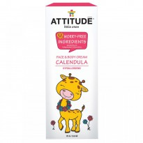 ATTITUDE, Little Ones, Calendula Face & Body Cream, 2.6 oz (75 g)